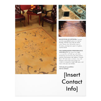 Interior Decorative Concrete Flyer