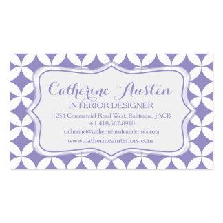 Interior design circular purple blue business card