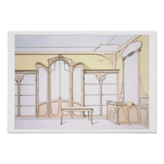 Interior design for a fashion shop, illustration f poster