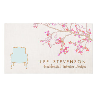 Interior Design French Chair Staging Decorator Pack Of Standard Business Cards