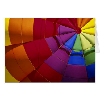 Interior design of inflated hot air balloon card