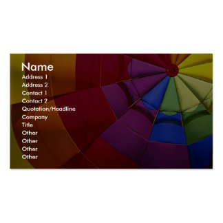 Interior design of inflated hot air balloon pack of standard business cards