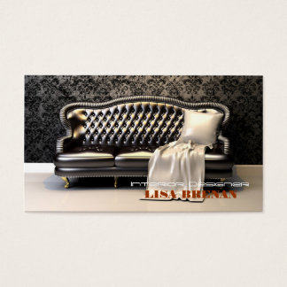 Interior Designer Black Sofa Modern Leathern Business Card