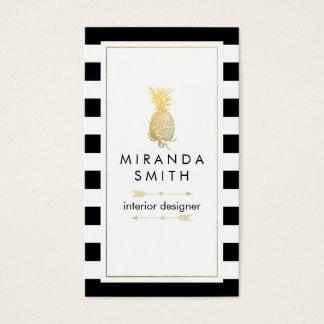 Interior Designer Business Card - Chic geometric