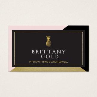 Interior Designer Business Card - Chic Gold