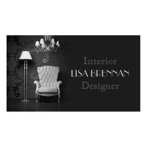 Damask interior designer business card zazzle - Premium Hair Stylist Business Card Templates