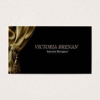 Interior Designer Curtain Decorator Window Design Business Card