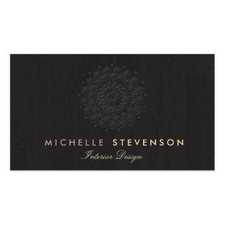 Interior Designer Elegant Embossed Motif Look Business Cards