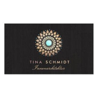 Interior Designer Elegantes Gold Motiv Visitenkart Double-Sided Standard Business Cards (Pack Of 100)