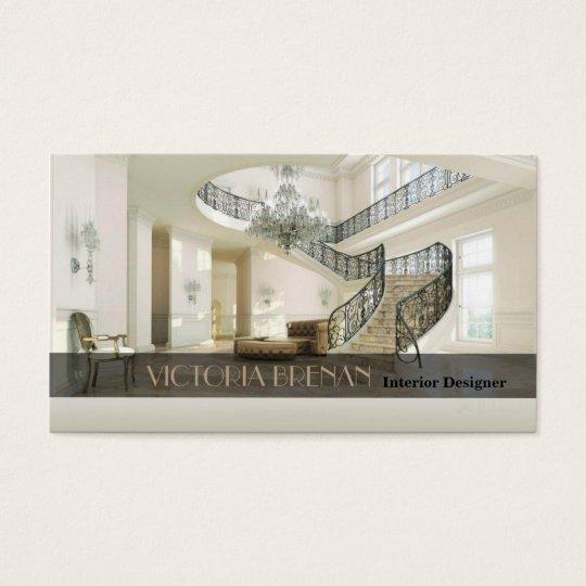 Interior Designer Furniture Living Room Decor Business Card