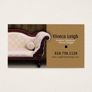 Interior Designer Home Stager Business Card