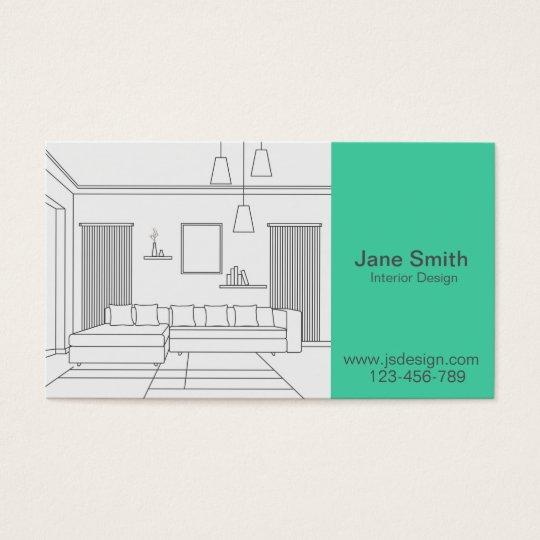 Interior Designer Interior Decorator, Colour Business Card