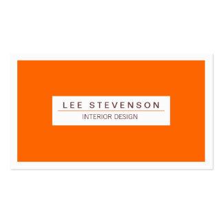 Interior Designer Orange Business card