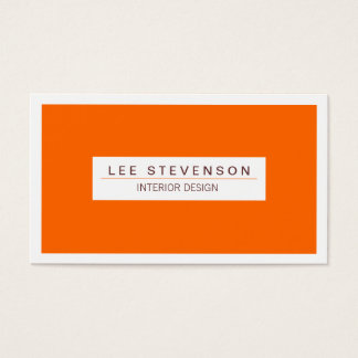 Interior Designer Orange Business card