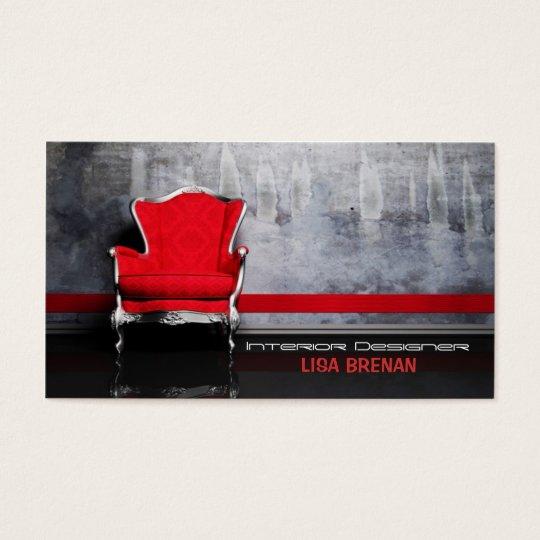 French Chair Logo Interior Designer Business Card Zazzle