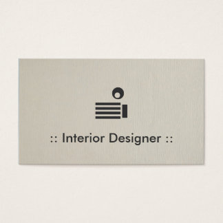 Interior Designer Simple Elegant Professional Business Card