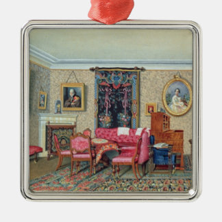 Interior in Pavlino, 1840s Christmas Ornament