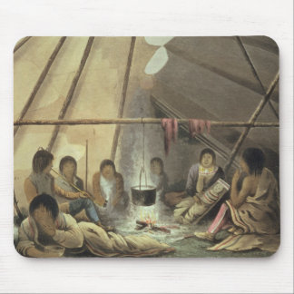 Interior of a Cree Indian Tent, March 25th 1820, f Mouse Pad