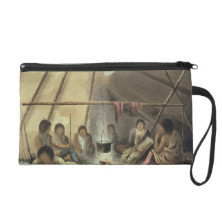 Interior of a Cree Indian Tent, March 25th 1820, f Wristlet Clutch