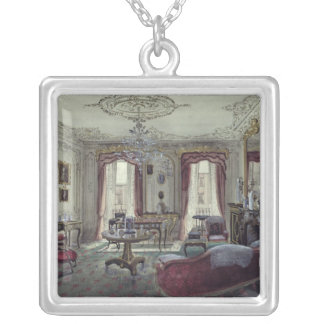 Interior of a drawing room silver plated necklace