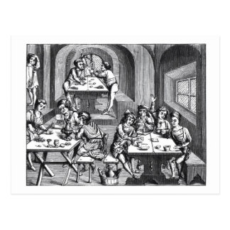 Interior of a hostelry, after a woodcut in a folio postcard