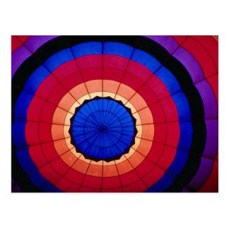 Interior of a hot air balloon postcards