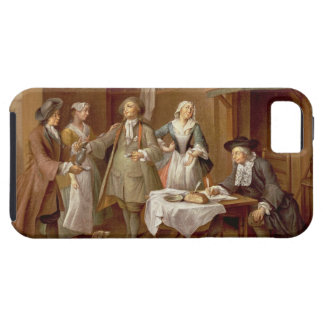 Interior of a Kitchen with Figures Tasting Wine Case For The iPhone 5