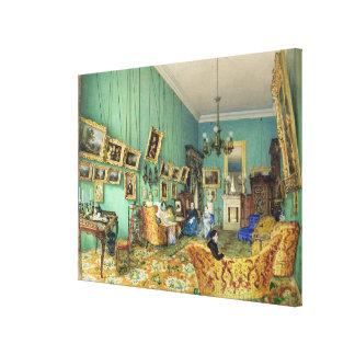 Interior of a living room, 1847 canvas prints