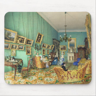 Interior of a living room, 1847 mouse pad