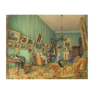 Interior of a living room, 1847 wood prints