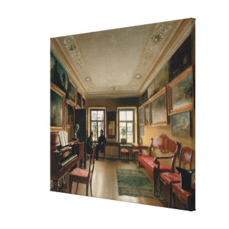 Interior of a Manor House, 1830s Canvas Print