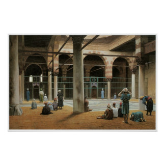 Interior of a Mosque, 1870 Jean-Leon Gerome Poster
