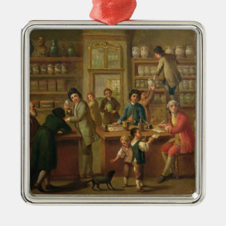 Interior of a Pharmacy Christmas Ornament