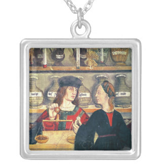 Interior of a Pharmacy Silver Plated Necklace