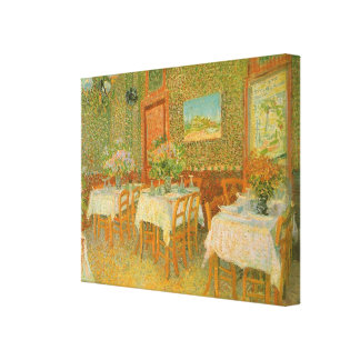 Interior of a Restaurant by Vincent van Gogh Gallery Wrapped Canvas