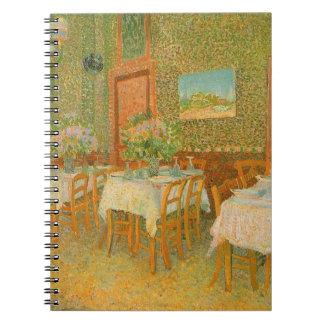 Interior of a Restaurant by Vincent van Gogh Spiral Notebook