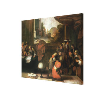 Interior of a Room with Geographers Canvas Print