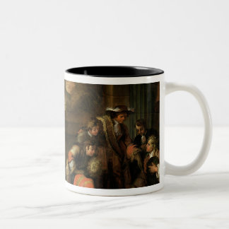 Interior of a Room with Geographers Two-Tone Coffee Mug