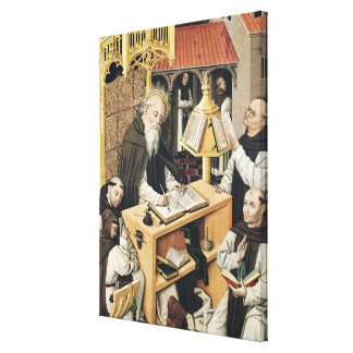 Interior of a Scriptorium, School of Segovia Canvas Print
