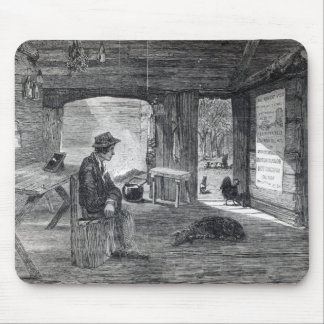 Interior of a settler s hut in Australia Mouse Pad