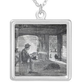 Interior of a settler s hut in Australia Custom Jewelry