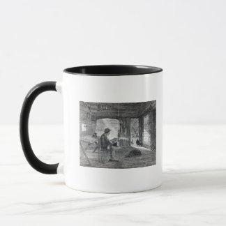 Interior of a settler's hut in Australia Mug
