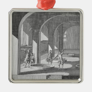 Interior of a Soap Factory, illustration for an en Christmas Ornament