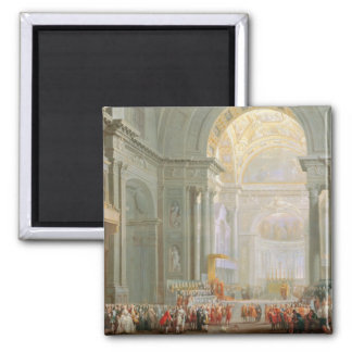 Interior of a St. Peter's, Rome Refrigerator Magnets