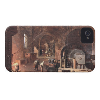 Interior of an Ironworks, c.1850-60 (oil on canvas iPhone 4 Case-Mate Case