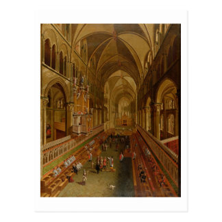 Interior of Canterbury Cathedral, c.1675-1700 (oil Postcard