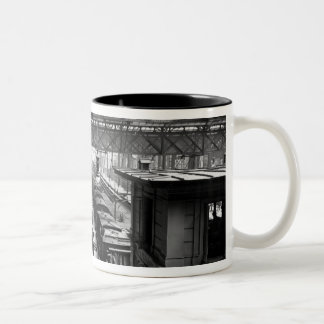 Interior of Charing Cross Station, London Two-Tone Coffee Mug