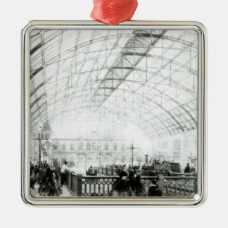 Interior of Charing Cross station Silver-Colored Square Decoration
