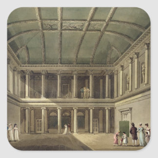 Interior of Concert Room, from 'Bath Illustrated b Square Sticker
