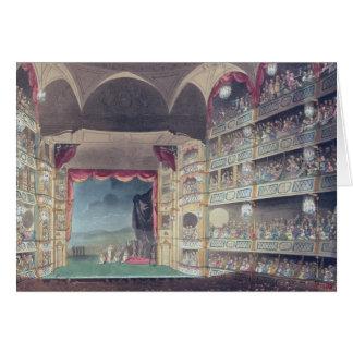Interior of Drury Lane Theatre, 1808 Greeting Card